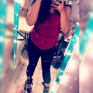 Selling maroon shirt w/matching heels